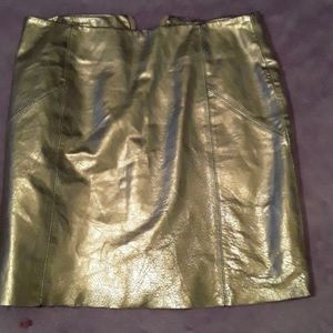 Asos Metallic Gold Skirt size.2